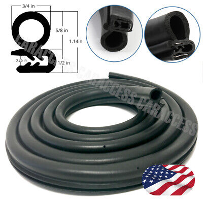 (10 ft) Rubber Seal Protector Weather Stripping Edge Decorate Waterproof