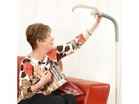 Brand new in box Independent Living Daylight Craft Hobby Floor Lamp Grey & White RRP £29.99