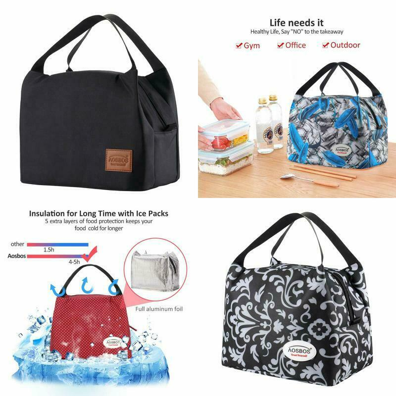 Insulated Lunch Bags for Women & Man Insulated Lunchbox Tote