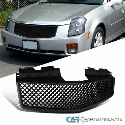 For 03-07 Cadillac CTS Front Matte Black ABS Mesh Hood Grill Grille Replacement