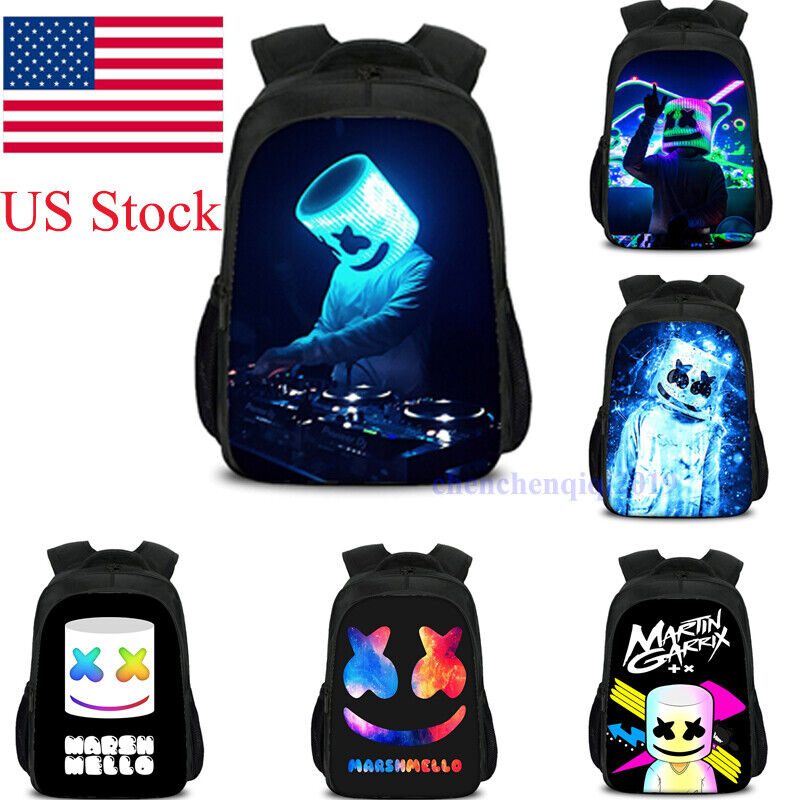 us shipping dj print backpack marshmallow kid