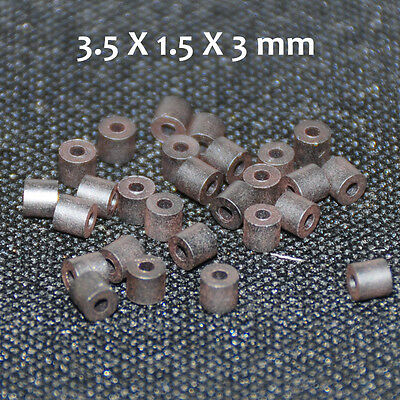 50pcs Ferrite Bead 3.5x1.5x3 Mm Toroide Cores Coil Inductor Ring Cables Filter