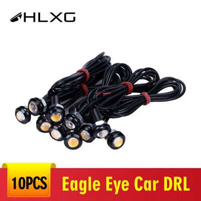10x Yellow Amber 9W LED Eagle Eye Car DRL Daytime Running Turn Signal Light 18MM for sale  Shipping to Canada