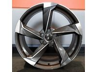"19"" New R8 Style Wheels and tyres 5x112 will fit Golf MK5, MK6, MK7, Jetta, Passat, Caddy Etc"