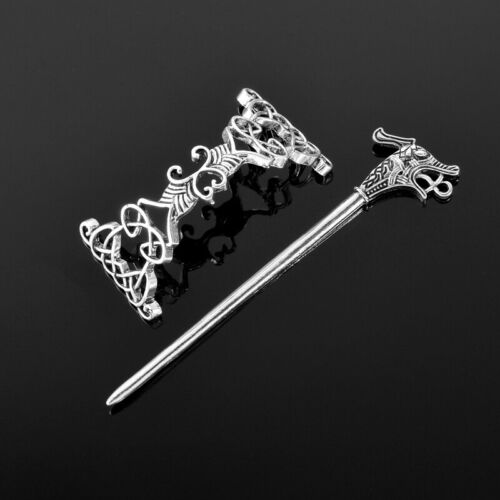Celtic Knot and Dagon Hair Pin or Knitted/crochet Shawl Closure