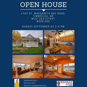 OPEN HOUSE Sunday September 23rd 2-4pm