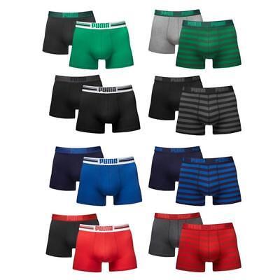 Puma Boxer Short Boxershorts 2 4 6 8 10er Pack Placed Logo Stripe 1515  NEU - 4 Pack Boxershorts