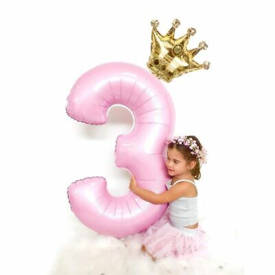 Foil Balloons Digit air Ballon Kids Birthday Party wild one Decorations Figure  - Name Ballons