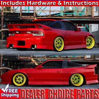 For 1989-2002 326 Power Style Spoiler Wing Nissan S13 S14 180sx 240sx UNPAINTED