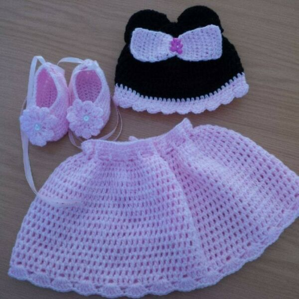 Hand Knitted And Crocheted Baby Character Outfits Mickey Minnie