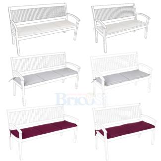 Cuscini per panca panchina legno 2 3 posti cuscino imbottito 4 cm idrorepellente