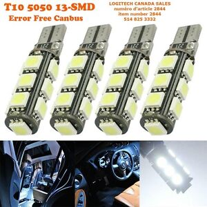 2x ERROR FREE T10 CANBUS W5W 194 168 5050 SMD 13 LED WHITE