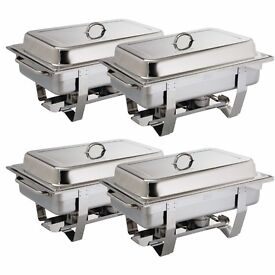 Chafing dishes for hire ideal for buffet and parties serving spoons etc inclusive