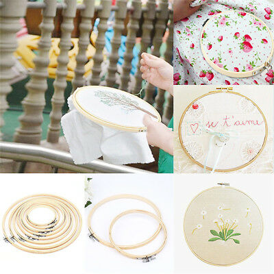 - Bamboo Embroidery Frame Hoop Ring Cross Stitch Sewing DIY Art Craft Tool 13-40cm