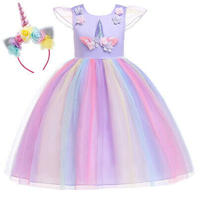Cute Unicorn Toddler Kid Baby Girl Party Tulle Dress Sundress Summer Costume US](Cute Kid Costumes)