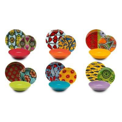 Servizio Piatti 18 Pezzi In Porcellana e ceramica - Afrika 18 Pez EX-62484