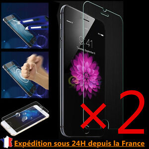 Vitre-protection-VERRE-trempe-Film-protecteur-d-039-ecran-iPhone-7-6-6s-Plus-4-5-SE