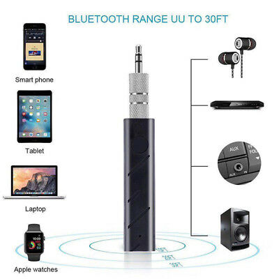 Mini 3.5mm Wireless Bluetooth Car Kit Hands Jack AUX Audio Receiver Adapter