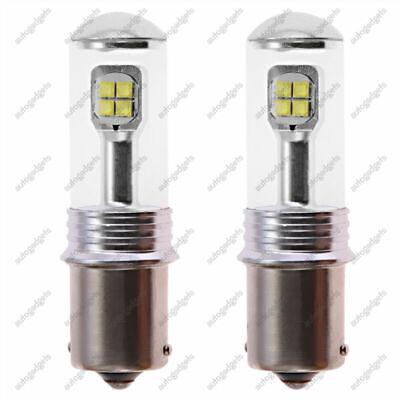 2 PCS High Power CREE 2800 Lumens 1156 LED White Reverse Back Up Light Bulbs NEW