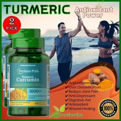 TURMERIC CURCUMIN 1000mg Antioxidant Joint Pain Weight Loss