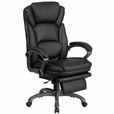 Flash Furniture Leather Reclining Office Chair In Black