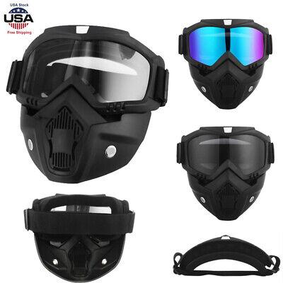 Mask Motorcycle Helmet Face Ski Bike Googles Glasses Motocross Full Eyewear (Motorcycle Eyewear)
