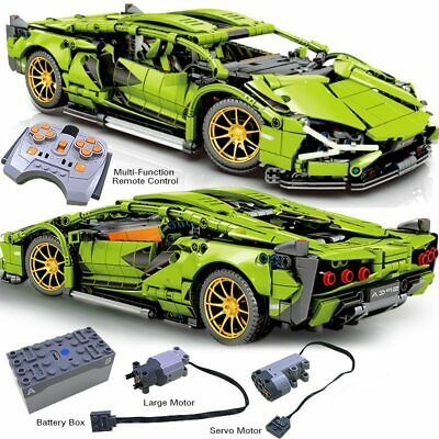 1254Pcs RC Technic Lamborghini Racing Building Blocks Bricks MOC DIY Toys Kid