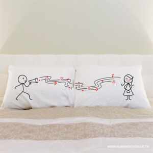 "New in Box Pillow Cases - ""Love Song"" Design"