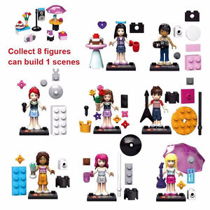 Girl Friends character 8pcs, Lego compatible