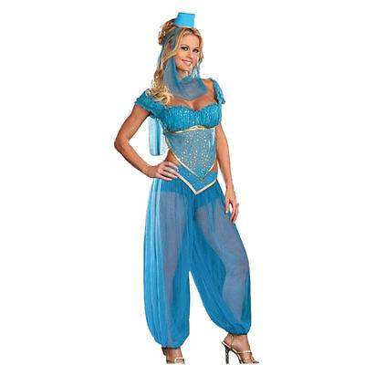Ladies Sexy Arabian Jasmine Genie Princess Costume Belly Dancer Fancy Dress](Arabian Ladies Costumes)