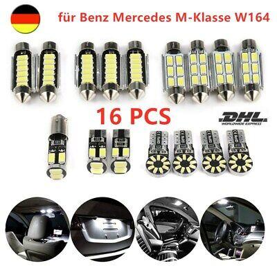 16x SMD LED Innenraumbeleuchtung für Benz Mercedes M-Klasse W164 Weiß Standlicht