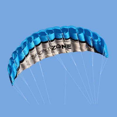 Outdoor Toys Dual Line Parafoil Parachute Stunt Sport Beach Kite Blue Best