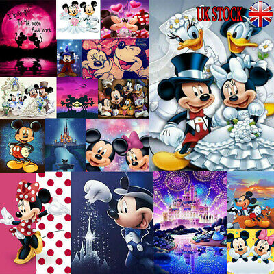 UK Full Drill 5D Diamond Painting Embroidery Cross Craft Art Mickey Characters