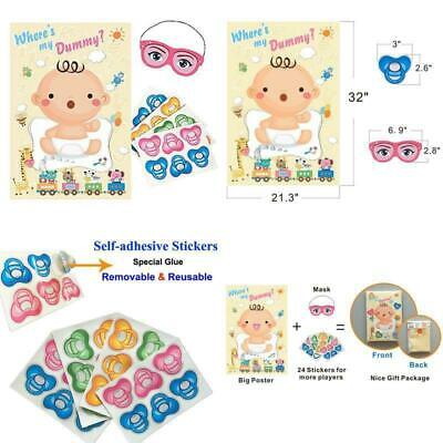 The Baby Game (ADJOY Baby Shower Party Favors And Game - Pin The Dummy On The Baby)