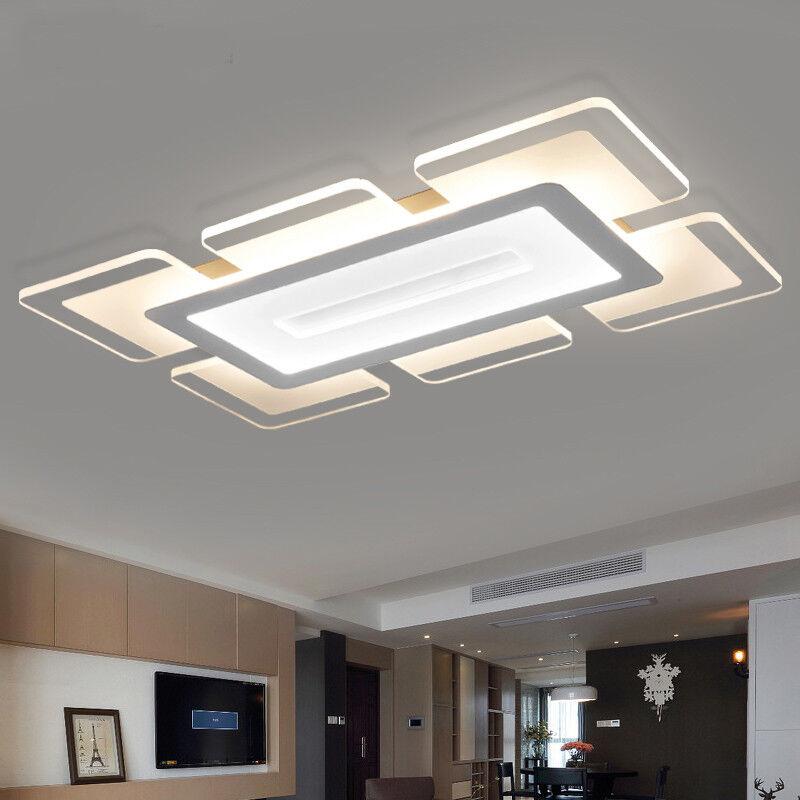 Rectangular Acrylic Modern LED Ceiling Light Living Room