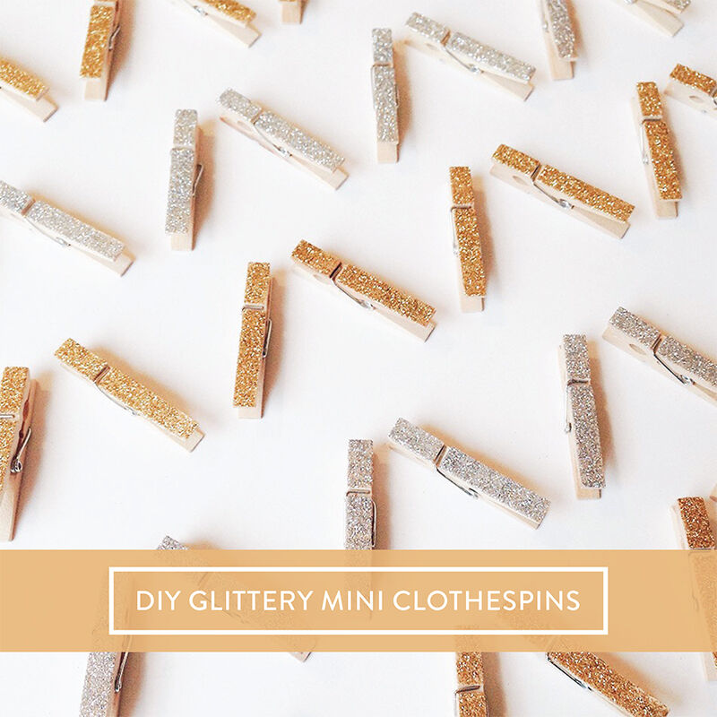 Diy glittery mini clothespins ebay for Mini clothespin craft ideas