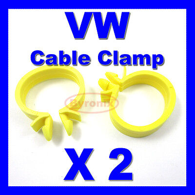 VW AUDI SEAT SKODA CABLE PIPE CLAMP WIRES LOOM HARNESS CLIP HOLDER 22mm X 18mm