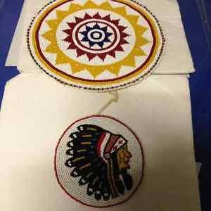 VINTAGE NATIVE INDIAN SASKATCHEWAN BEAD CRESTS - PARKER PICKERS-