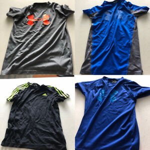 Lot of 21 children's shirts (adidas, under armour)