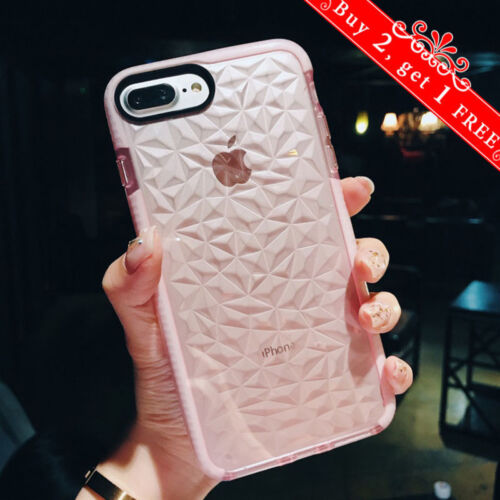 Case Clear Diamond Cute Shockproof Soft Cover For iPhone 7 P