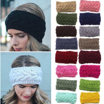 Fashion Women Crochet Headband Knit Flower Hairband Ear Warmer Winter Headwrap - Flower Crochet Headband
