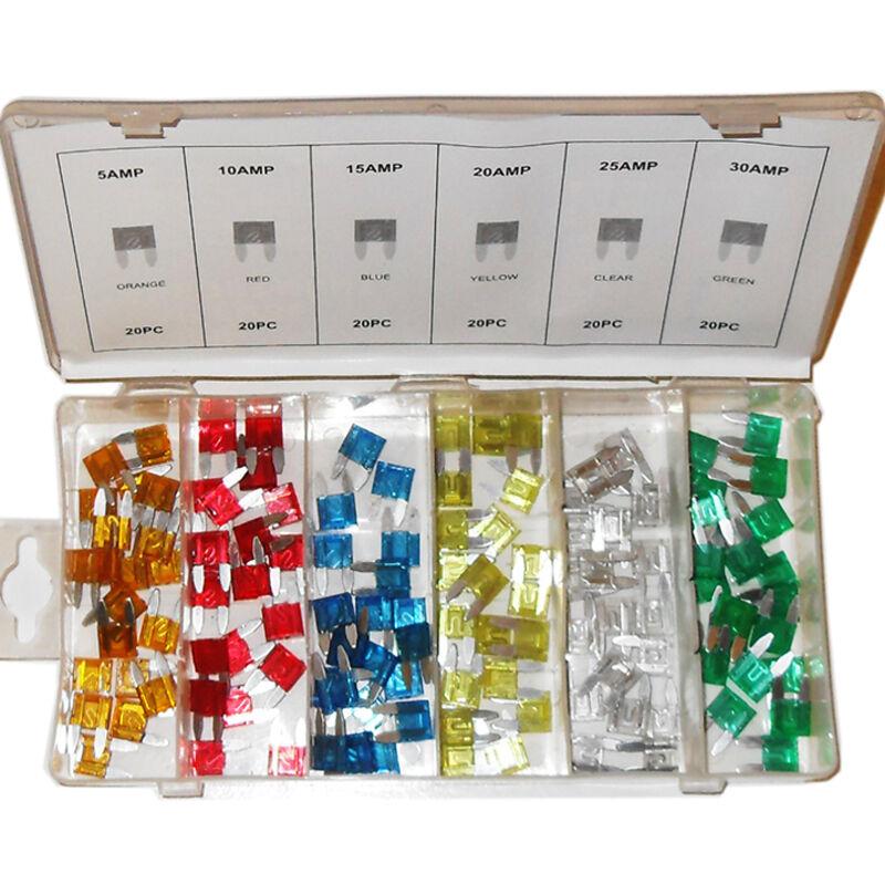Car Parts - 240 PCS CAR FUSE ASSORTMENT Set 6 Sizes 5 - 30 AMP Auto Parts Mini Blade Fuse
