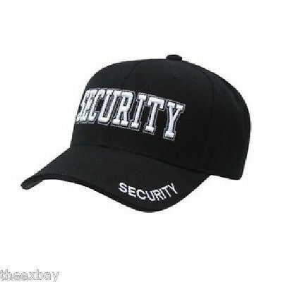 Black SECURITY Embroidered  Adjustable Cap Baseball Hat