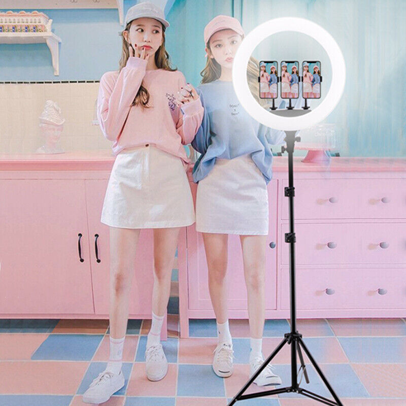 "18"" 65W Dimmable LED Ring Light Kit With For Makeup Phone Camera TikTok Vedio"