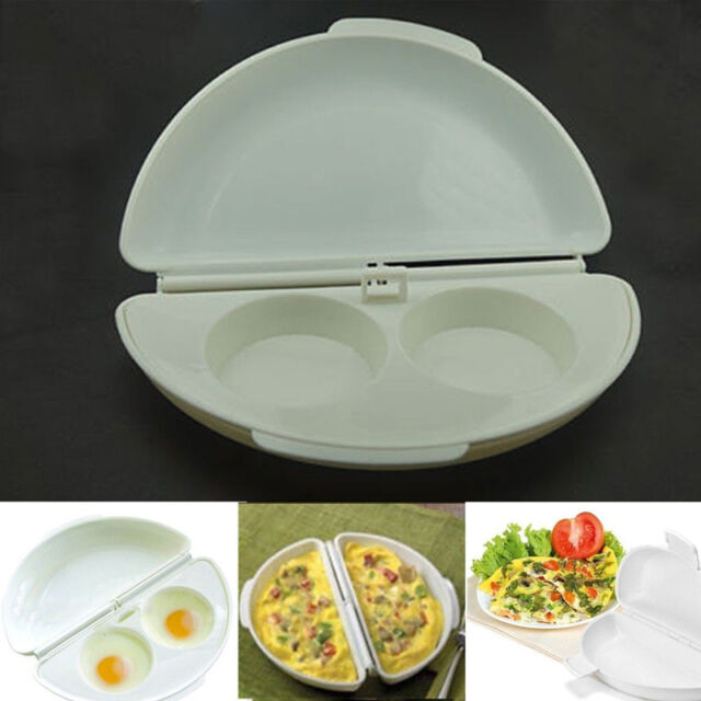 Microwave Egg Omelet Mold Cooker Poacher Pan Maker Cook Tray Omelette In Minutes