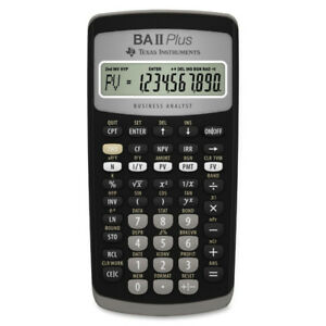 BA II PLUS CALCULATOR TEXAS INSTRUMENTS