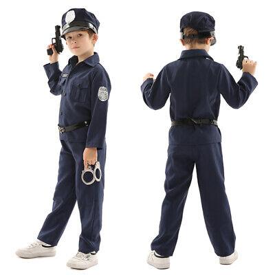 Boys Policeman Fancy Dress SWAT Team Cop Police - Swat Kostüme Kid