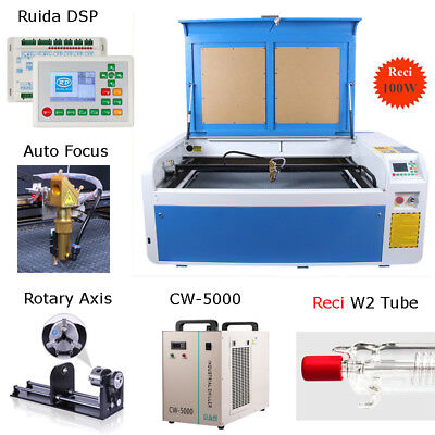 Reci 100w Co2 Laser Enagraver Cutter Laser Machine 1000 X 600mm Ce Fda Usb Port