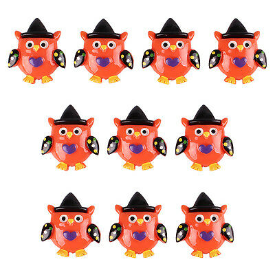 Lot 10 pcs Owl with Hat for Halloween Party Resin Flatback Hair Bow Crafts - Halloween Embellishments For Hair Bows