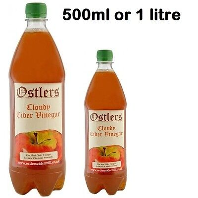 Ostlers Cloudy Apple Cider Vinegar With The Mother 1 Litre Unfiltered